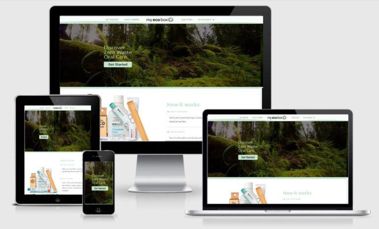 MYECOBOX Website Design Project Screenshot