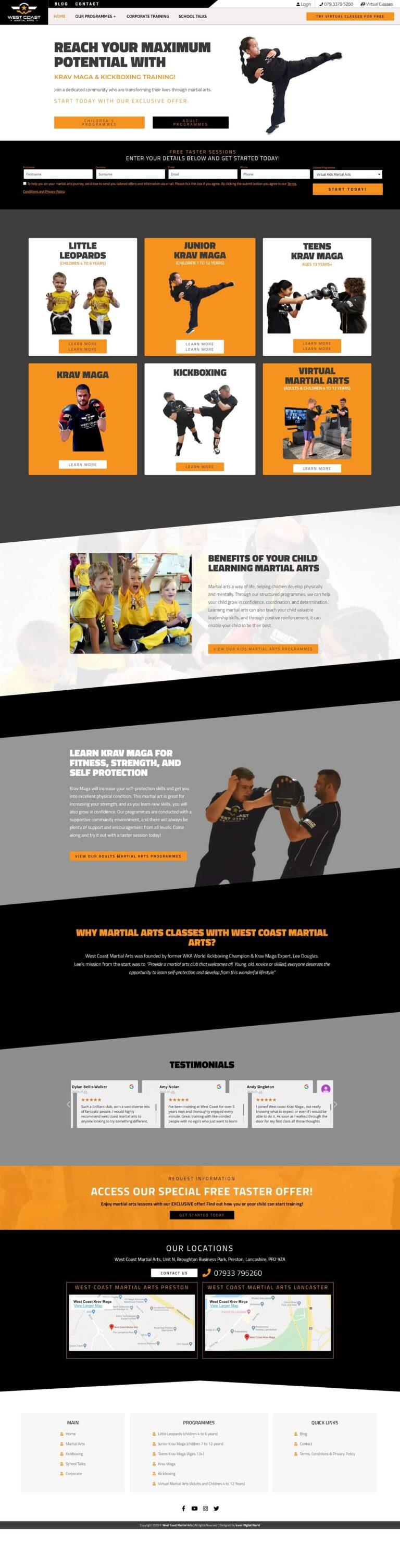 West Coat Martial Arts - Homepage