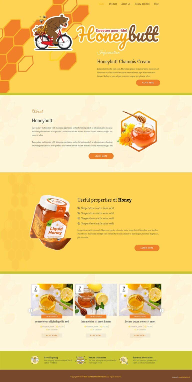 Honeybutt Website Design Homepage Screenshot