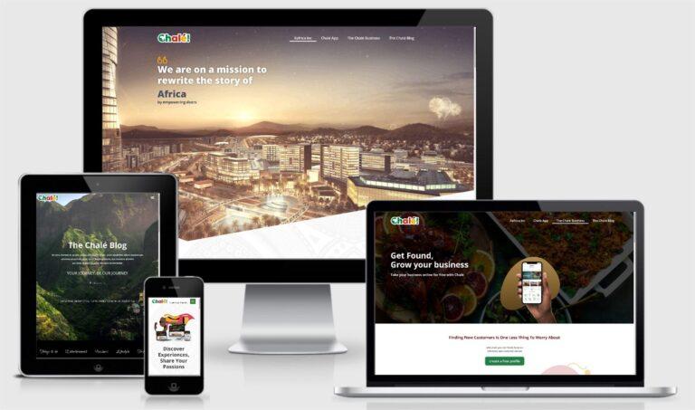 The Chale App Website Design Responsive Layout