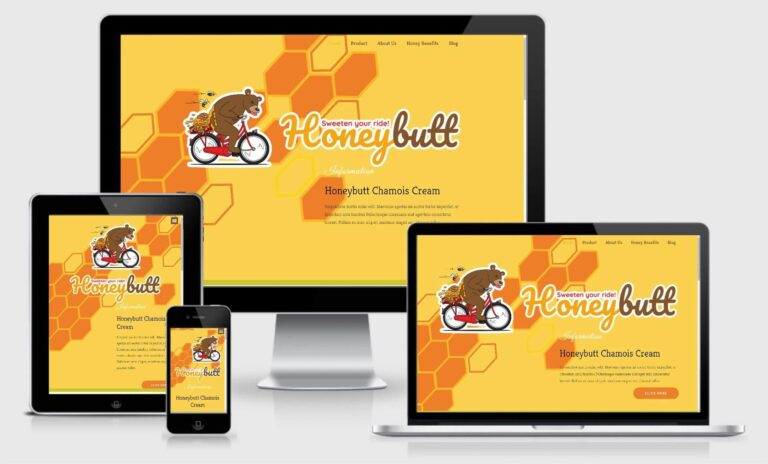 Honeybutt Website Design Responsive Screenshot
