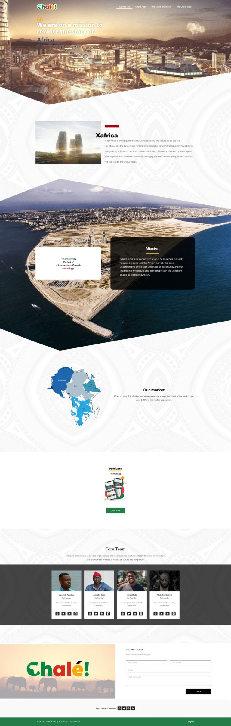 The Chale App Website Design HomePage