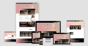 Victoria Alana Website Design - Layout