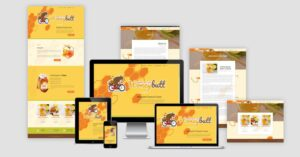 Honeybutt Website Design Pages Layout