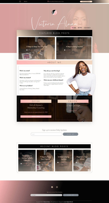 Victoria Alana Website Design