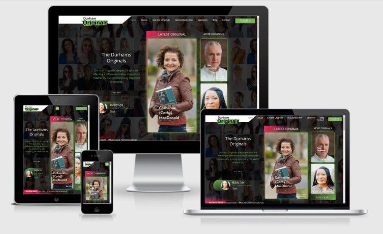 Durham Originals Website Redesign - Responsive Design