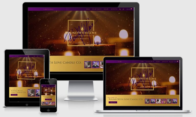 Boundwithlove Candle Website Design - Responsive
