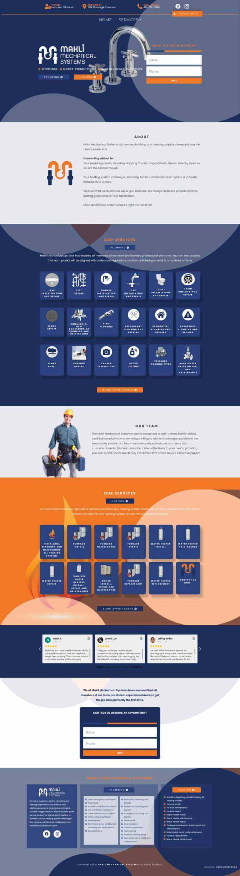 Makli Mechanical Systems Website Design