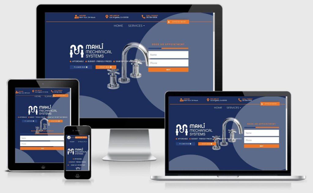 Makli Mechanical Systems Website Design - Responsive Screenshot