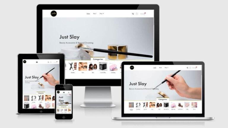 Just Slay New Website Design - Responsive