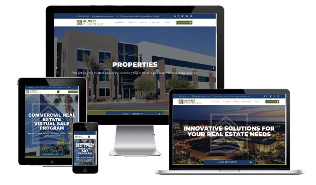 AllWest Properties Website Redesign
