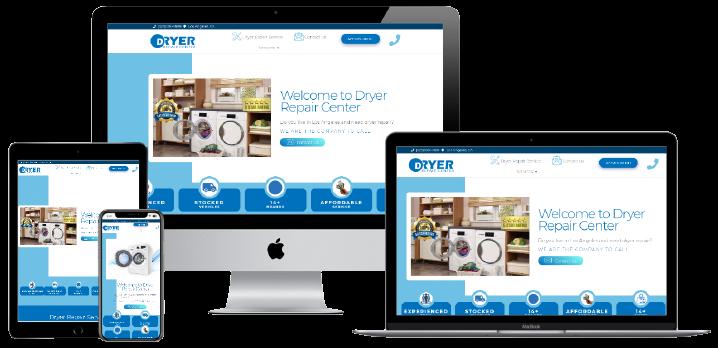 Dryer Repair Center Website Design - Responsive