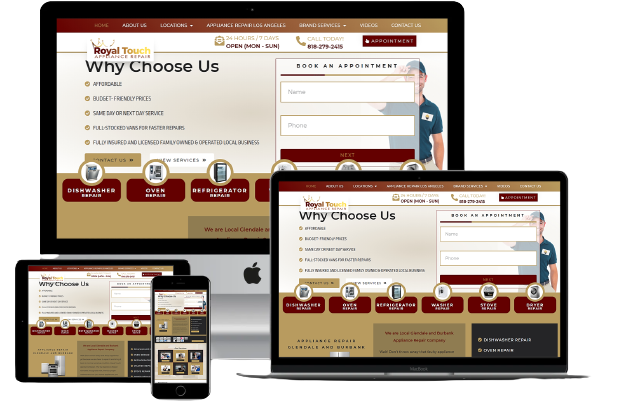Royaltouchrepair Website Design Responsive Layout