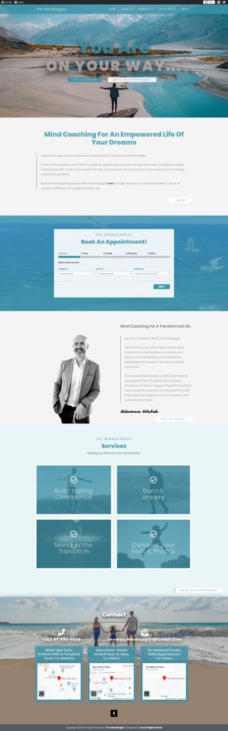 Mindologist Website Design