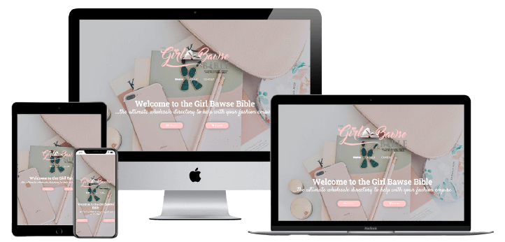 The Girl bawse bible Website Design