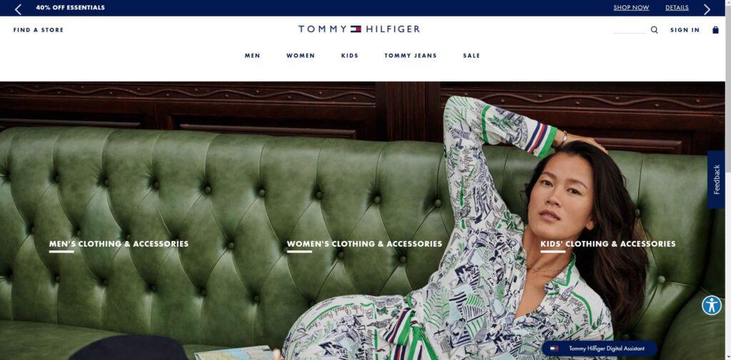 Tommy Hilfiger Website Design