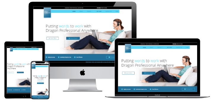 Dragon Professional Anywhere - Responsive Layout