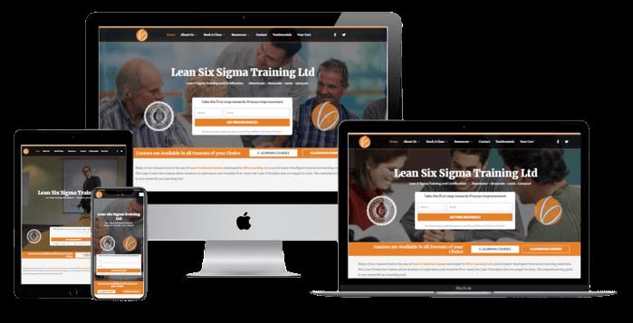 Lean6sigmatraining - Website redesign Responsive