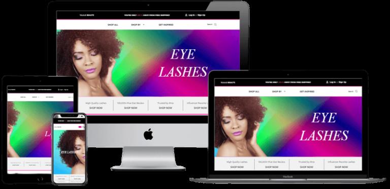 Y.a.a.s Beaute Website Design - Responsive layout