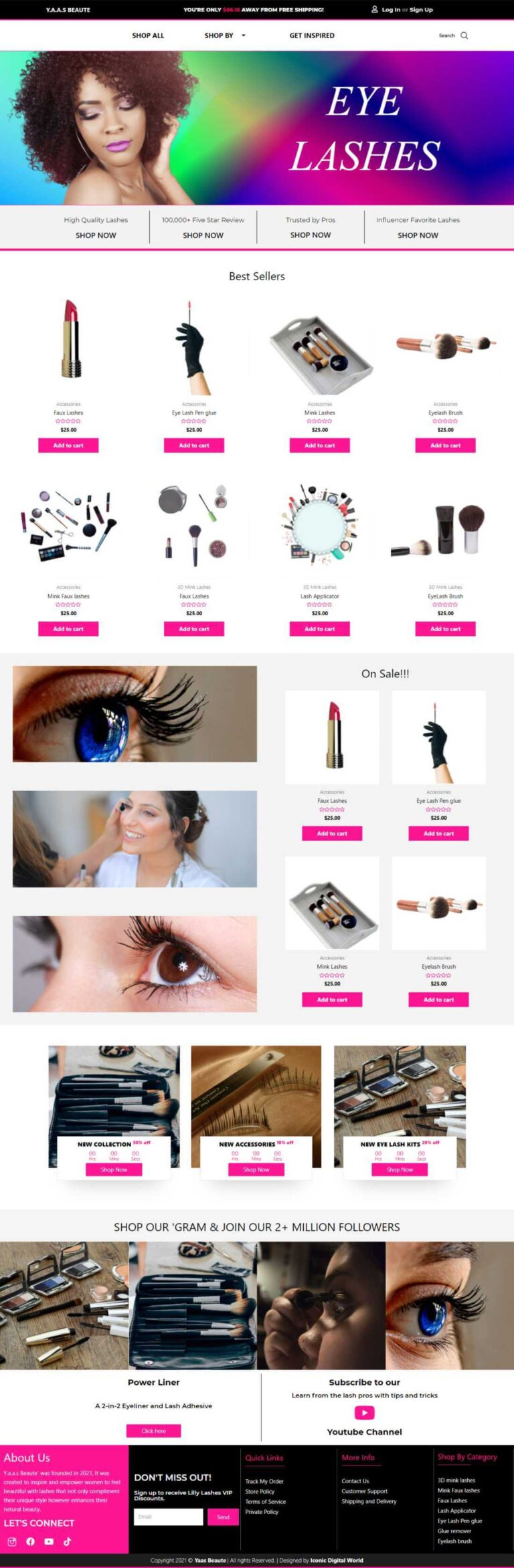Y.a.a.s Website Design - Homepage
