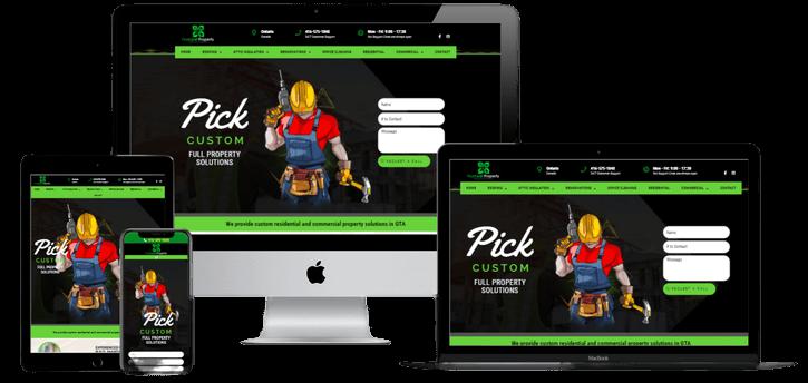 4leafpropertysolutions website design