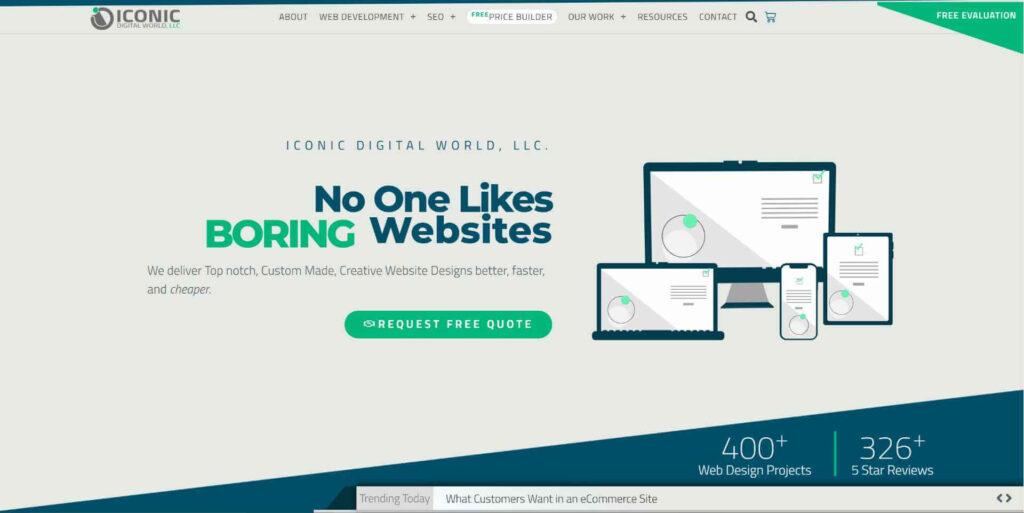 Iconic Digital World homepage Screenshot
