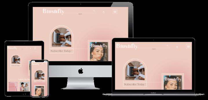 Responsive - Blushfly Website Design