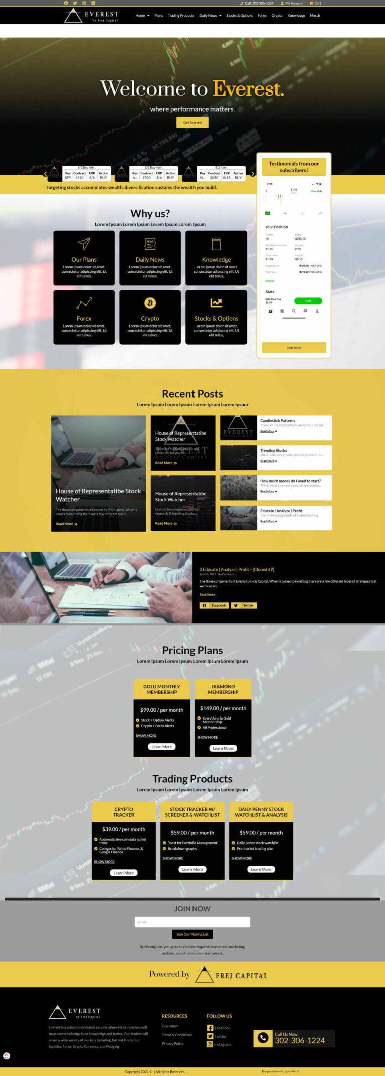 FcEverest Website Design Layout-Home