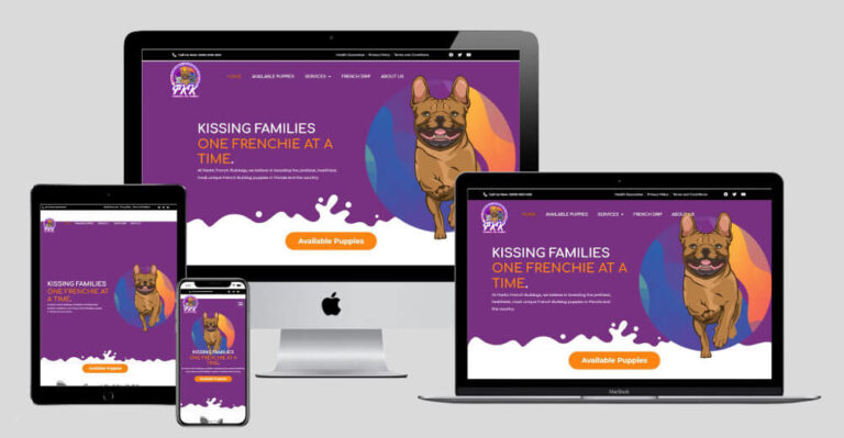 Frenchie Kiss Kennels New Website Design Responsive